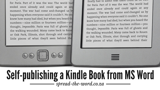 Self-publishing a Kindle Book from MS Word