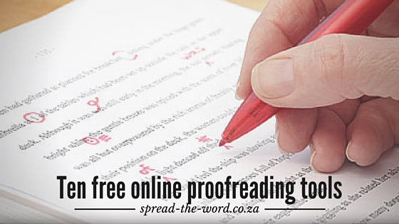 Free Proofreading Tools