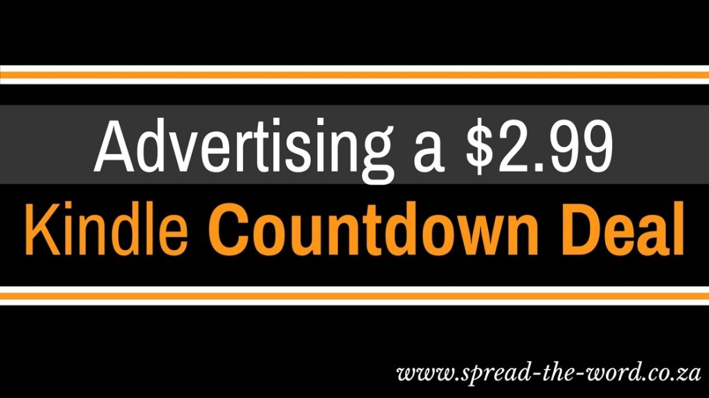 Advertising a $2.99 Kindle Countdown Deal